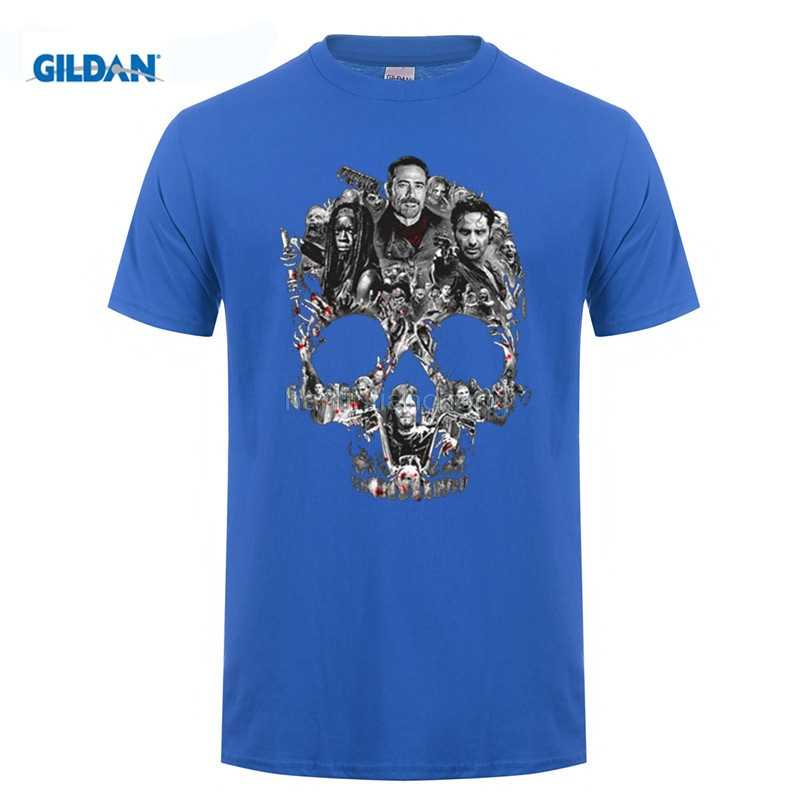 bd1d8612b ... MEN T SHIRT The Walking Dead Negan Skull Graphic T-Shirt Men and women  tee ...