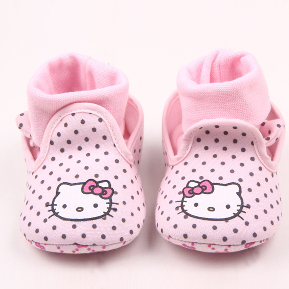 Baby Girls Shoes for Boy walker Socks Soft Sole Infant Crib Shoes Toddler Newborn Cartoon Hello Kitty Boots Cute Kid 0-18 Months