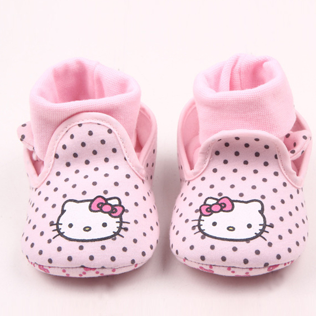 3ee179ed673f6 Baby Girls Shoes for Boy walker Socks Soft Sole Infant Crib Shoes Toddler  Newborn Cartoon Hello Kitty Boots Cute Kid 0-18 Months