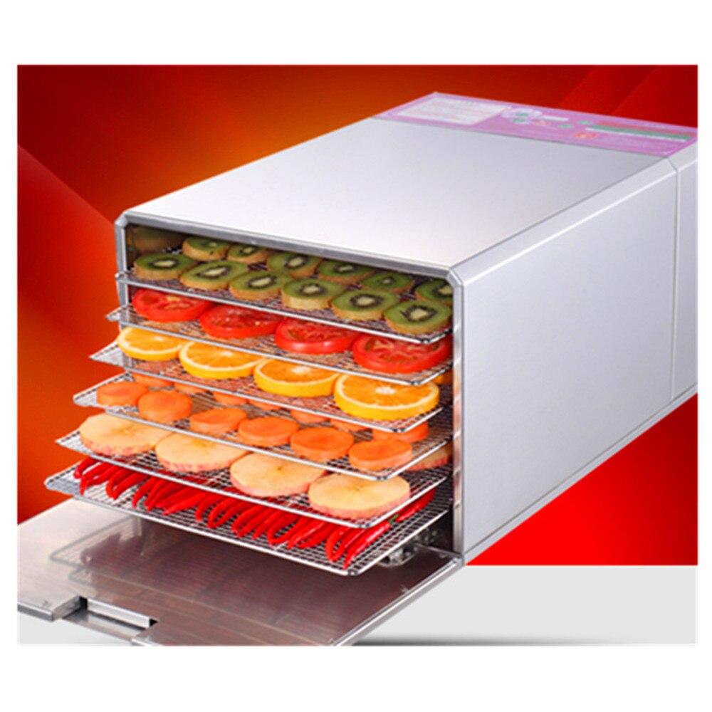 Stainless steel herbs meat air drying machine pet food dryer home use banana mango lemon beef dehydrator machine ZF  цены