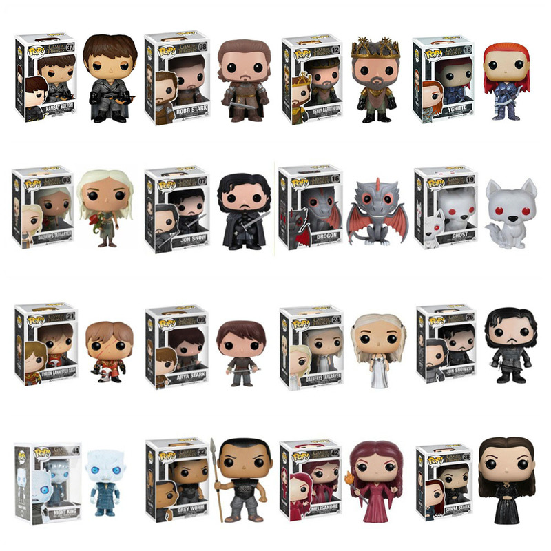 FUNKO POP Game Of Thrones Night's King Jon Snow Drogon Action Figure Collectible Model Christmas Toys For Children Gift