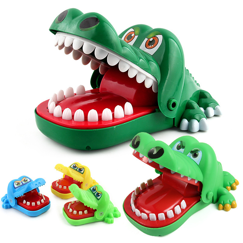 Toys & Hobbies Novelty & Gag Toys Objective Large Size Shark Mouth Tooth Electric Bite Finger Funny Novelty Gag Toy With Lights And Sound Anti Stress Family Prank Play Game
