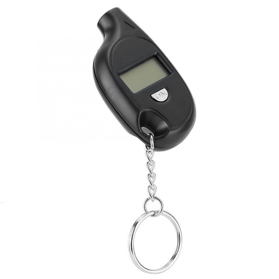 Portátil 3-150psi display lcd digital chaveiro veículo