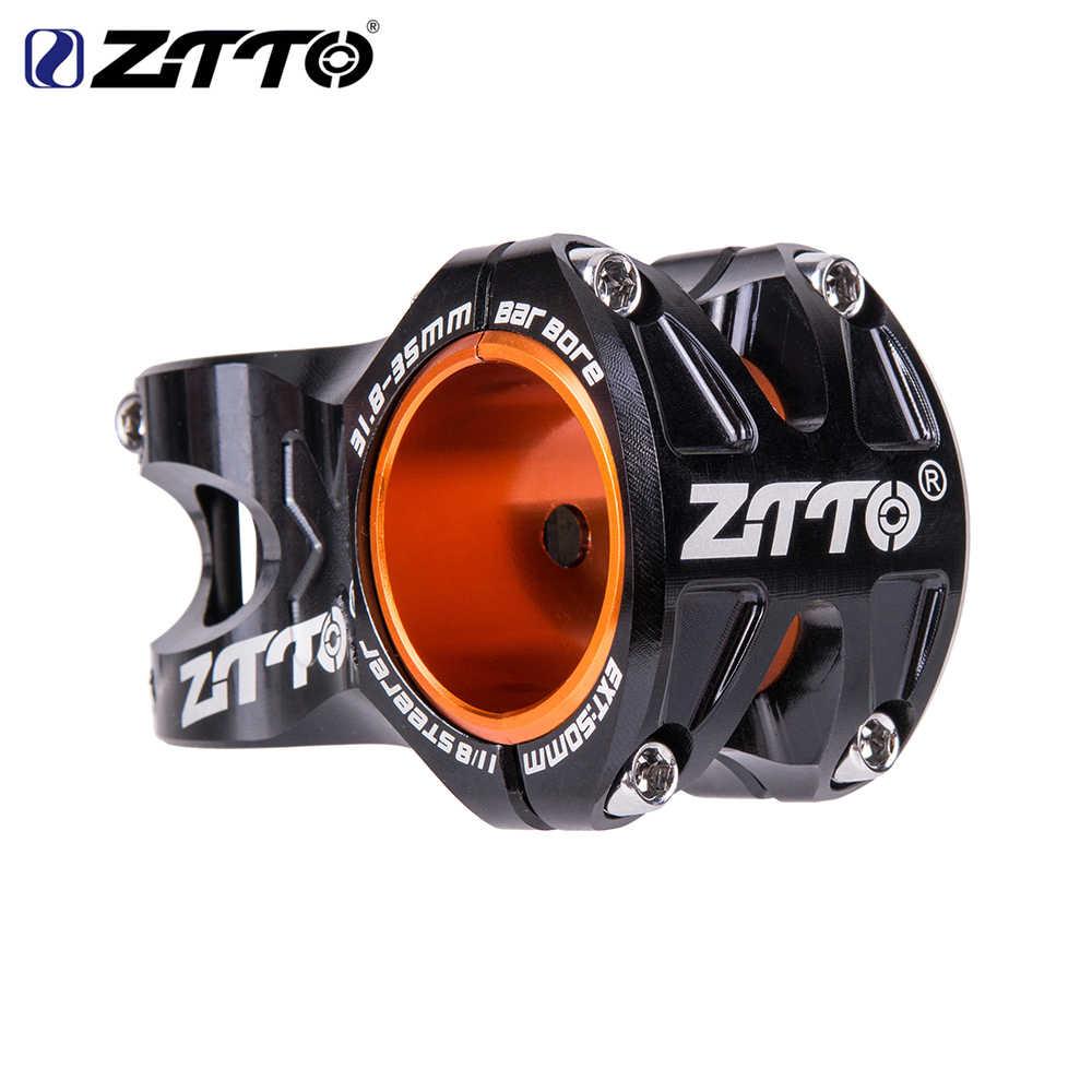 ZTTO-Manillar CNC para bicicleta de montaña, de 50mm, 35mm, 31,8mm, ultraliviano, de 0 grados, con vástago DH AM, de 28,6mm