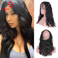 Gossip Girl Pre Plucked 360 Frontal Peruvian Virgin Hair Body Wave Lace Frontals With Baby Hair 360 Lace Frontal Closure