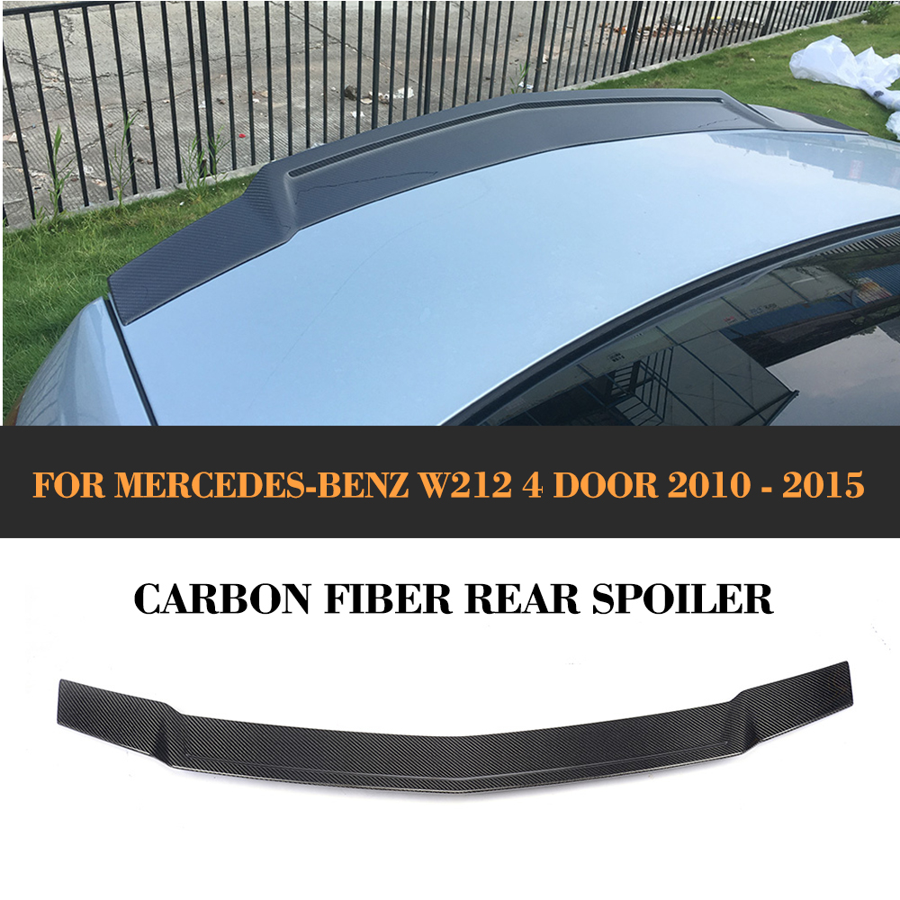 Carbon Fiber Rear Trunk Lid Spoiler Wing for Mercedes Benz W212 Sedan 4 Door E300 E350 E400 E500 E63 AMG 2010 - 2015 Car Cover w204 c180 c200 c260 c300 carbon fiber car rear trunk lip spoiler wing for mercedes benz w204 c63 4 door 2008 2013 amg style