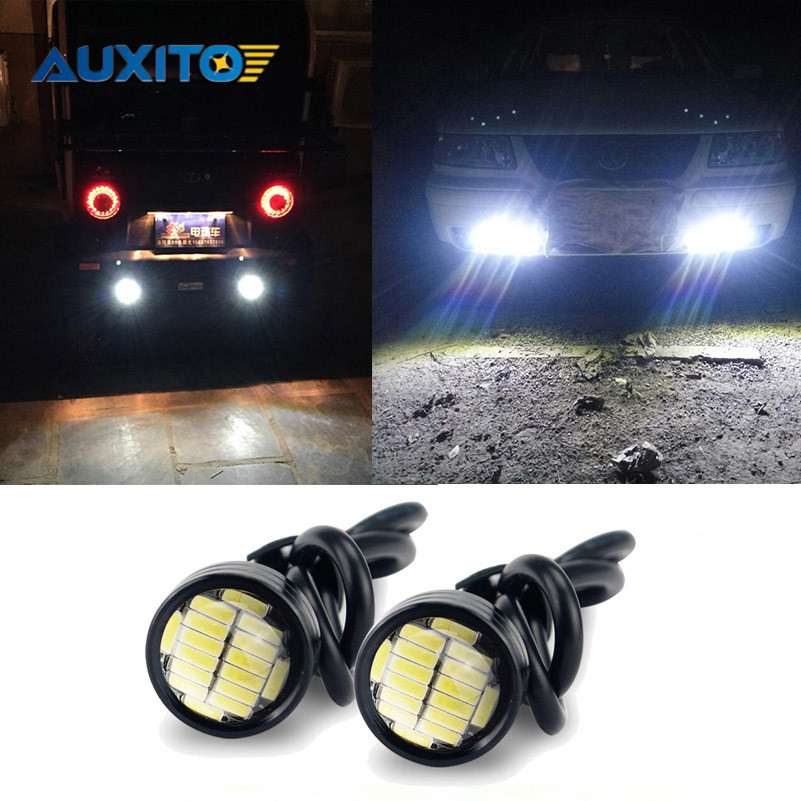 2x LED Eagle Eye Light DRL Bulb Waterproof For Hyundai Solaris Accent I30 IX35 Tucson Elantra Santa Fe Getz I20 Sonata I40 I10