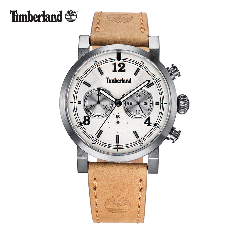 Timberland Mens Watches Casual Quartz Leather Buckle Men's Watches Chronograph Water Resistant T14811