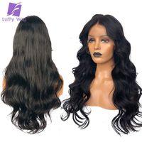 Предварительно сорвал Full Lace человеческих волос парики с ребенком волнистые волосы бразильский парик Glueless Луффи не Волосы remy отбеленные узл