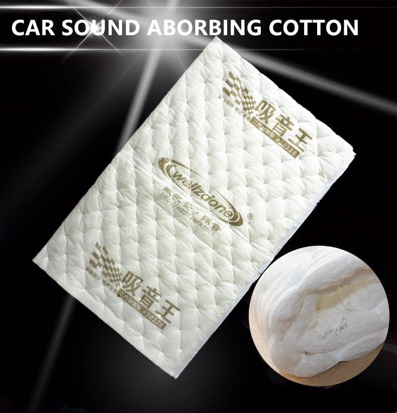 Écouter 10 pièce 32 X 20 80 cm x 50 cm Sound Isolation thermique Coton Lutte Contre Le Bruit Deadener pour Porte De Voiture Tronc Capot Plafond