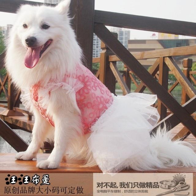 Summer Hot Selling Big Dog Clothes Sexey Big Dog Princess Dress Big Dog Formal Dress Golden