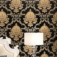Luxury Thickening Embossed Relief 3D Wallpaper Damascus Living Room TV Backdrop Wallpaper MJJ88