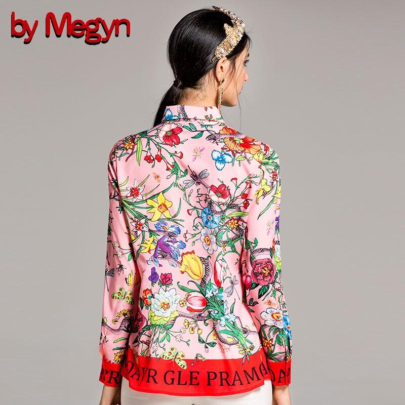 Camisa Y De Manga 3xl Diseñador Larga Por Mujer Mujeres Carta Tamaño Blusas Megyn Moda Pista Pink Plus La 2018 Serpiente z8qxwtqO