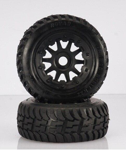 ФОТО Front off-road Wheel Tire Rim set fit HPI KM Rovan baja 5T 5SC king motor truck free shipping 95164