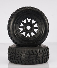 Front off-road Wheel Tire Rim set fit HPI KM Rovan baja 5T 5SC king motor truck free shipping 95164