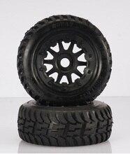 Frente off road neumáticos llanta conjunto encaja HPI KM Rovan baja 5 T 5SC rey de motor truck envío gratis 95164
