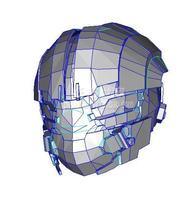3D modelo de papel espacio muerto casco máscara DIY juguete