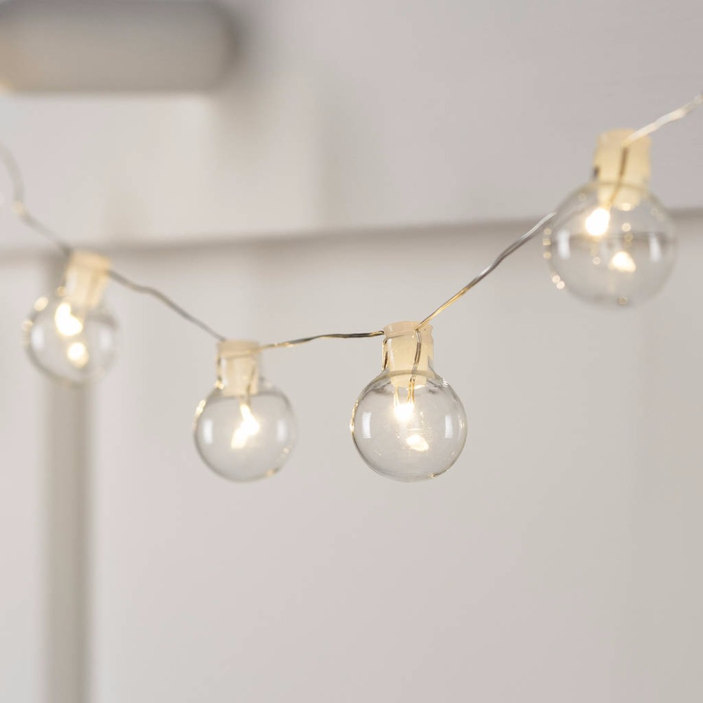 Led Fairy Lights Warm White Silver Wire