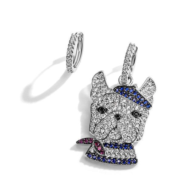 Fashion Dog Shaped Assymetrical Earrings