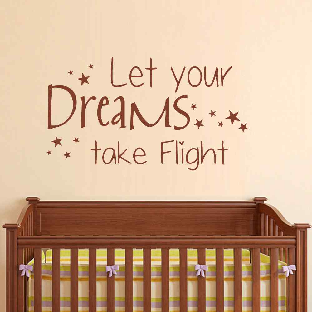 Let Your Dreams Take Flight Vinyl Decals Stars Art Mural