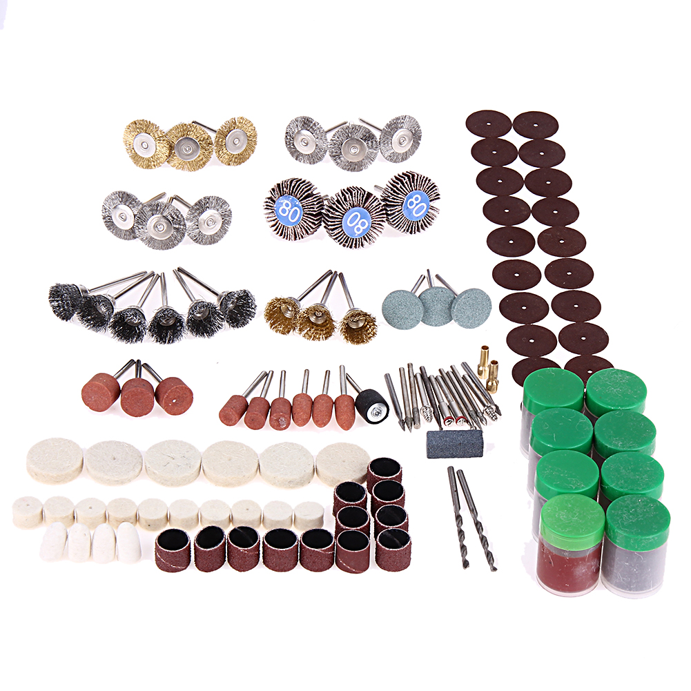 350Pcs Grinder Rotary Tool Bit Set Mini Drill Grinder Head Cutting Power Tool Carving Grinding Accessories Polishing Tool