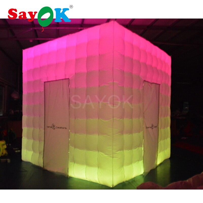 Портативный photo booth корпус надувные аксессуары для фотосессии photo booth shell с полосы света для свадьбы, вечерние
