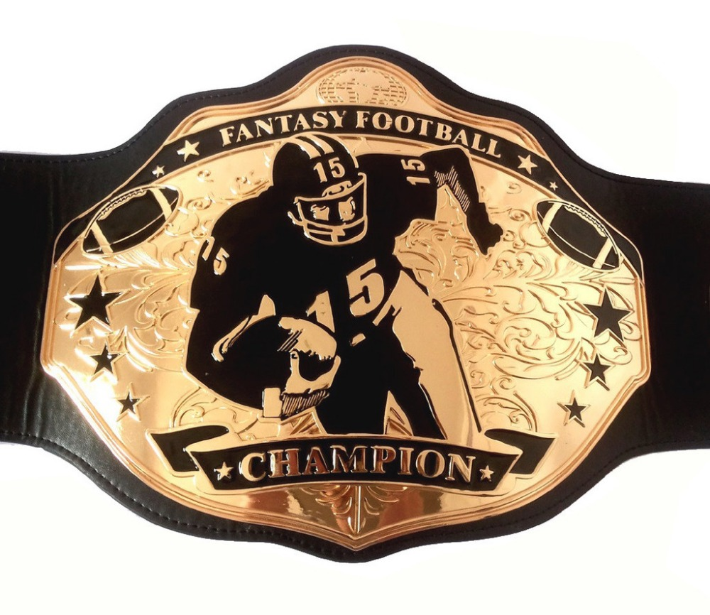 Fantasy Football Champion Belts  Black & Gold - Stiff Arm 2750 fantasy cotu