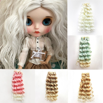 Size for 1/6 1/4 1/3 BJD Doll Hair Extensions Heat Resistant Wire Curly Hair Piece for All Dolls DIY Doll Wig Doll Accessories new arrival 1 piece 100cm long wigs wave small curly long wig hair tree for 1 3 1 4 1 6 bjd diy dolls hair