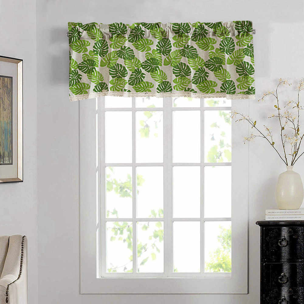 2019 Top Valance Curtains Extra Wide And Short Window Treatment Kitchen Living Bathroom 11 7