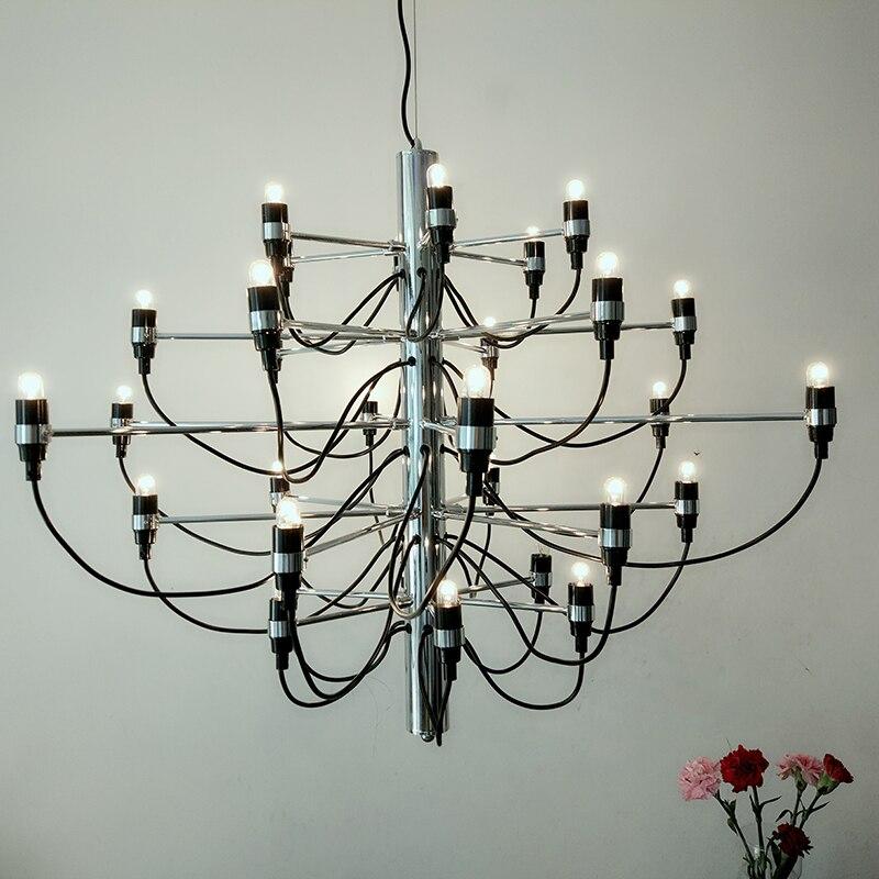 Venda quente Arte Moderna Lustre 18/30/50 Cabeças Pendurar Luzes lustre sala de estar
