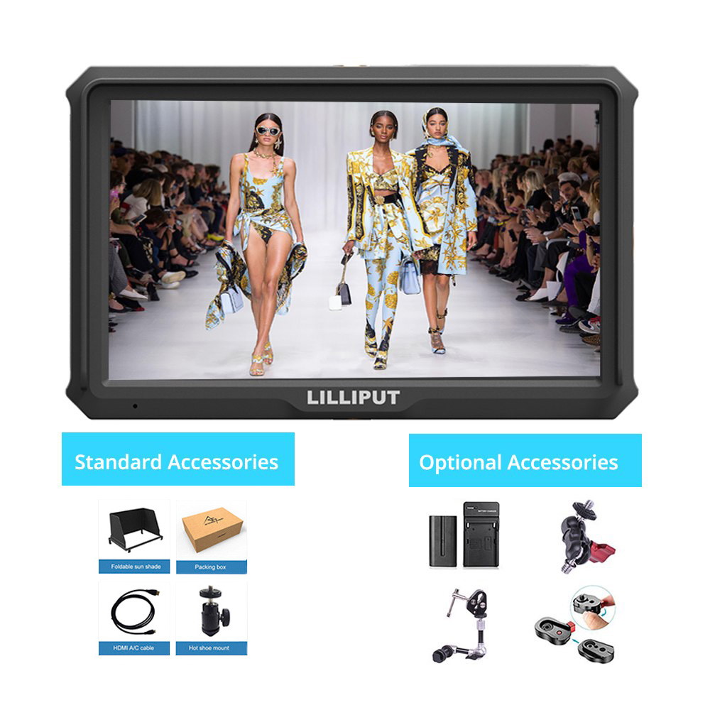 Lilliput A5 5 inch FHD 1920x1080 4K HDMI On Camera Field Monitor Broadcast monitor display for Canon Nikon Sony Zhiyun Gimbal цена
