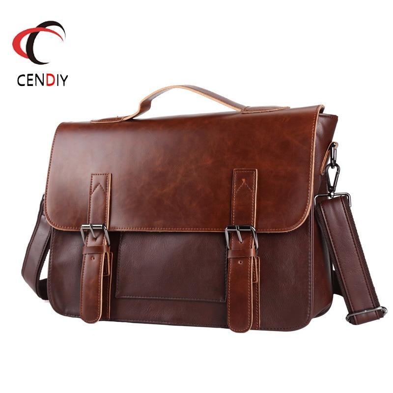 2018 Brand Men Briefcase Shoulder Bag Messenger Bags Casual Business Laptop Briefcase Male Brand Designer Simple Crossbody Bags
