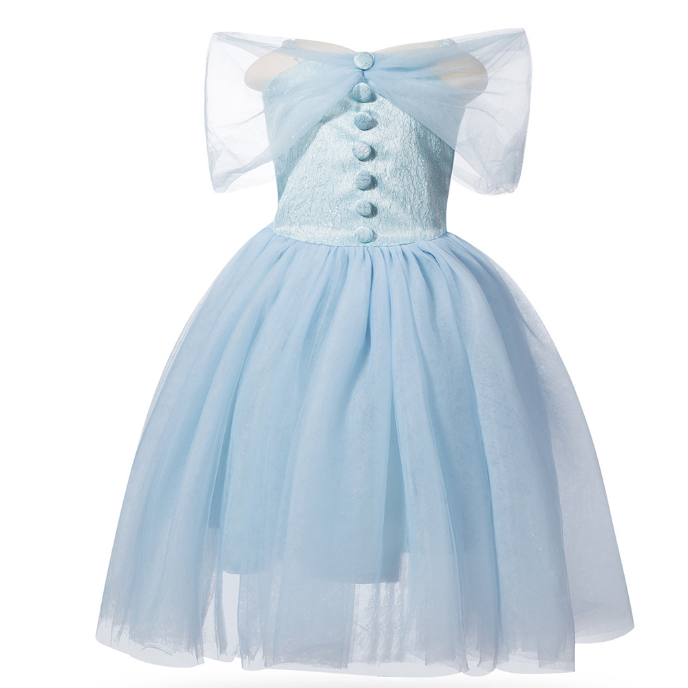 christmas Princess Cinderella dress Girls blue formal dress baby girl Party clothing Costume kids Toddler Birthday wedding dress wireless data convergence
