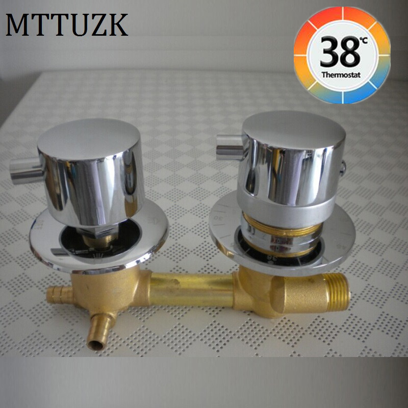 Brass Thermostatic Mixing Valve Constant Water Temperature: MTTUZK Wall Mounted 2/3/4/5 Ways Water Outlet Brass