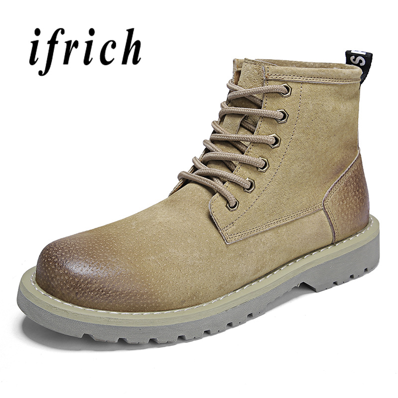 2018 New Leather Men Boots Khaki Brown Work Male Boots with Fur Comfortable Casual Shoes for Men Anti-Slip Mens Motorcycle Boots2018 New Leather Men Boots Khaki Brown Work Male Boots with Fur Comfortable Casual Shoes for Men Anti-Slip Mens Motorcycle Boots