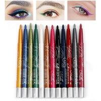 12 Colors Brand Auto Rotate Eyeliner Eye Shadow Makeup Set Eyeliner Pencil Long Lasting Natural Eyeliner