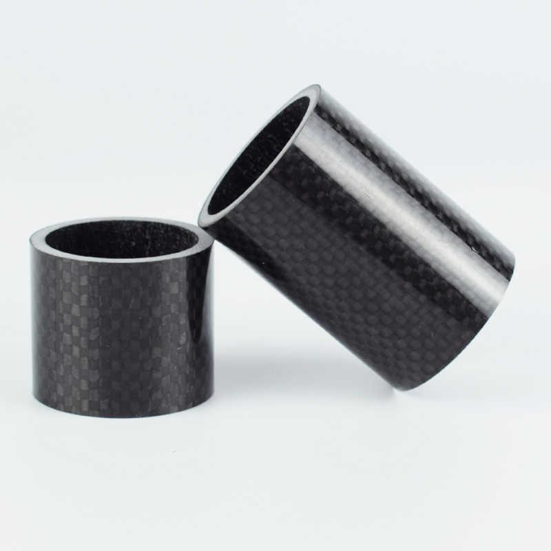 Kit espaciador de fibra de carbono para montar la bicicleta accesorios MTB 1mm 3mm 5mm 8mm 10mm 15mm 20mm 30mm 40mm 50mm