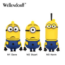 Funny Minions Memory Stick 8GB 4GB 16GB Cute Cartoon Pen Drive 32GB 64GB Usb Flash Drive Pendrive USB 2.0 Free shipping(China)