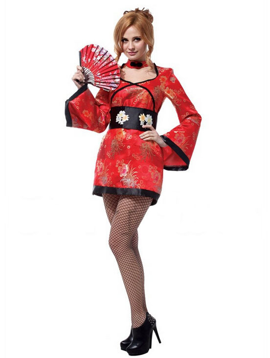 Symbol Of The Brand Free Shipping!!red Sexy Japanese Kimono, All Saints Orgy Party, Stage Performances, Fancy Dress, Sexy Woman Special Summer Sale