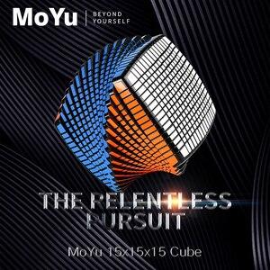 Image 2 - Moyu 15 camadas moyu 15x15x15 cubo com caixa de presente velocidade quebra cabeça mágico 15x15 cubo mágico educacional brinquedos (120mm) na promoção