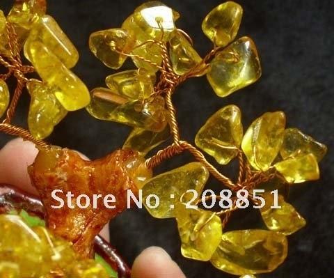 Красивые цитриновый Кристалл елка из кристалла Оптом