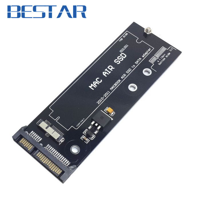 12+6pin SSD HDD to SATA 22Pin Hard Disk Cartridge Drive PCBA for Apple 2010 2011 Macbook Air A1369 A1370 SSD  low profile half height 50mm mini pci e msata ssd to 7mm 2 5 sata 22pin hard disk drive hdd pcba