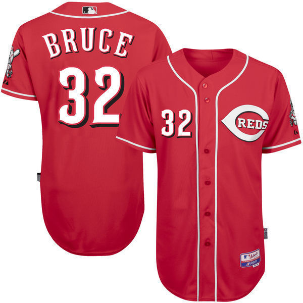 MLB Mens Cincinnati Reds Jay Bruce Baseball Red Alternate White Home 6300 Player Authentic Jersey
