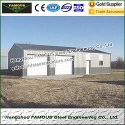 Конструкционный стальной каркасный сарай и гараж Сделано в Китае