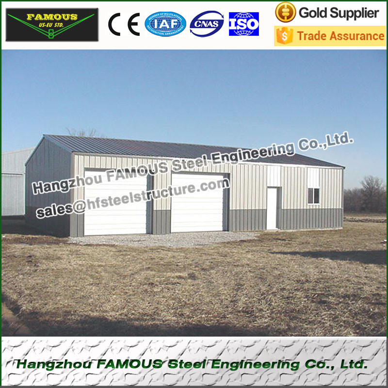 Structural Steel Framed Shed And Garage Made In China