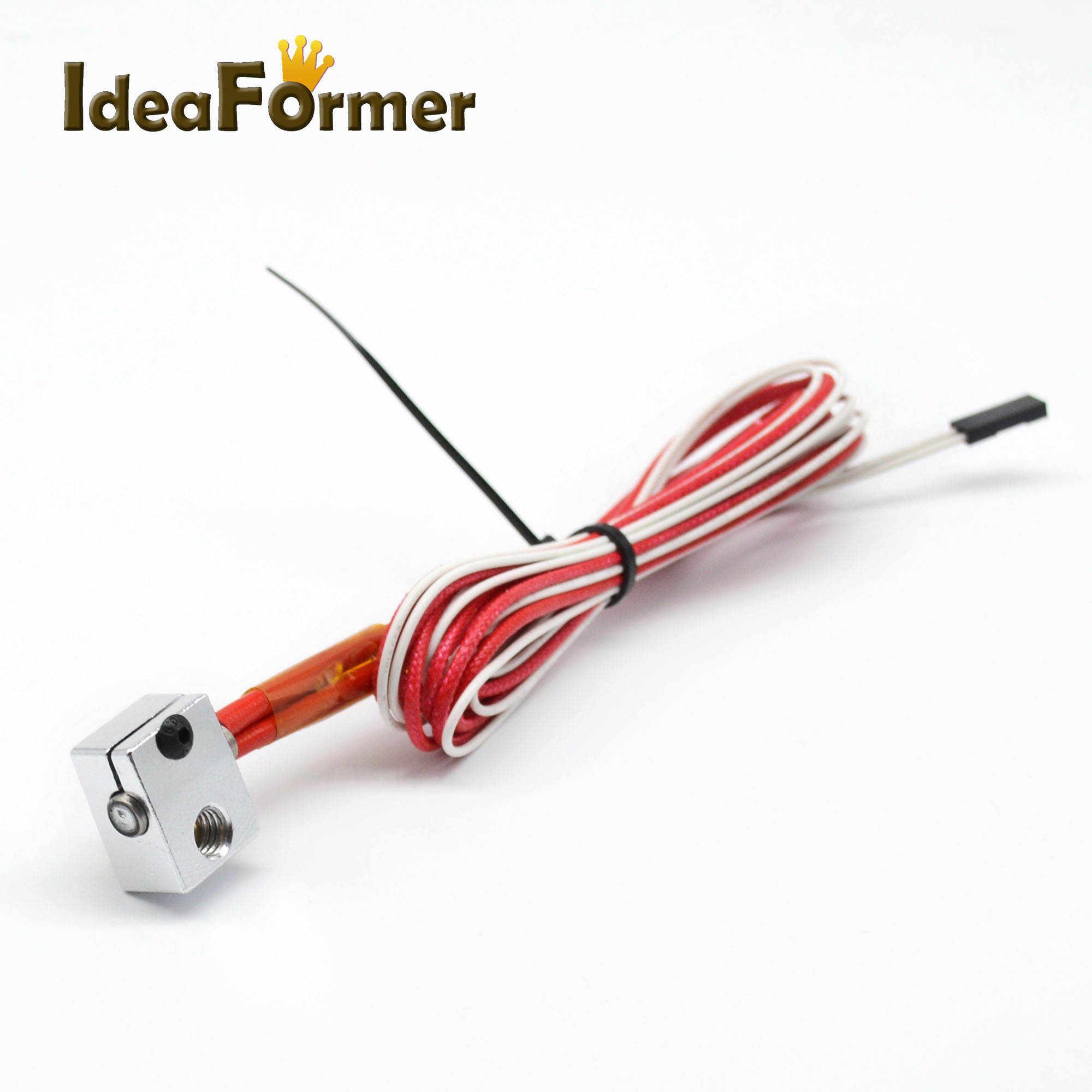 3D V6 Bloco De Aquecimento De Alumínio + Termistor de impressora com 2 pin + Aquecedor de Cerâmica 12 V 40 W para V6 j-cabeça Hotend