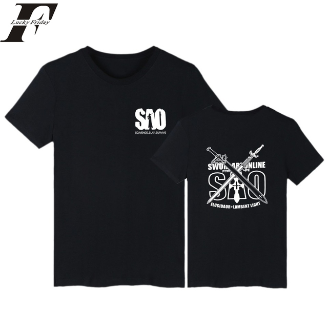 2017 Fashion Sword Art Online fitness T Shirts Men women streetwear SAO  T-shirt Men s top funny Tee tops pp brand clothing drake 31a0ce2a1d