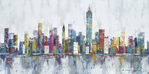 Abstract New York Skyline Art