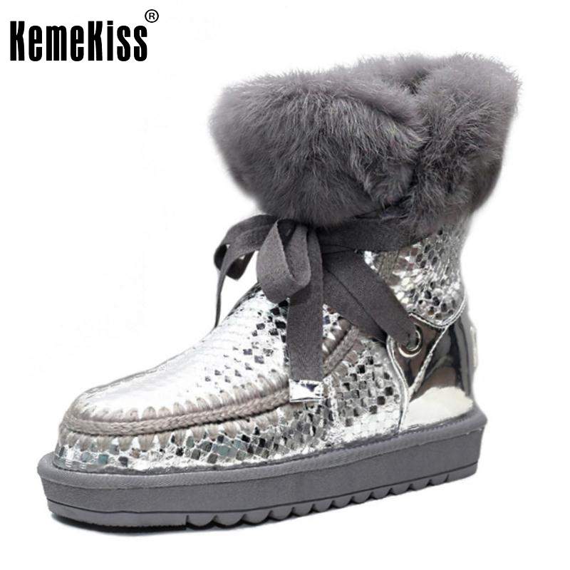ФОТО New Warm Winter Snow Boots Women Plush Bowknot Bowtie Shoes Ladies Leisure Half Knee Botas Fashion Woman Shoes Size 34-39
