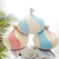 iDouillet Creative Decorative Pompom Round Throw Pillow Accent Floor Cushion Foam Particles Stuffed Plush Doll Toy Pillows Kids